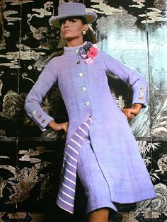 1967 Suit by Chanel in violet tweed
