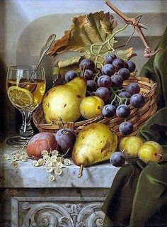 21 ideas watercolor art for beginners still life Simple Oil Painting, Fruit Painting, Painting Still Life, Food Art Painting, Fruit Photography, Still Life Photography, Caravaggio, Pyrus, Still Life Fruit