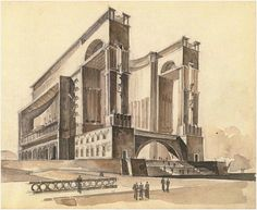 """""""Design for a World Revolution Museum, Moscow, Evgeny Stamo, Monumental Architecture, Concept Architecture, Architecture Drawings, Classical Architecture, Gothic Architecture, Futuristic Architecture, Historical Architecture, School Architecture, Ancient Architecture"""