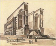World Revolution Museum project (Evgeny Stamo, 1936) https://www.instagram.com/mcmxxxv/