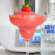 Our Thermomix Strawberry Vodka Slushies are the perfect summer drink! Boozy, fruity and totally ice cold... and ready in less than 5 minutes!