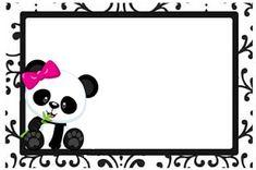 Professora Tati Simões: Kit Panda Preto, branco e rosa para imprimir grátis Panda Birthday, 9th Birthday, Panda Icon, Panda Decorations, Panda Bebe, Panda Party, Baby Shower Princess, Kung Fu Panda, Silhouette Projects