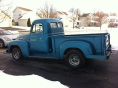 1952 International Harvester Pickup. This is a photo of the day Rodsmith Customs, Grayslake IL picked up the truck to be worked on. Prior to this it was in my garage 17 years disabled. It had not ran in 15 years.