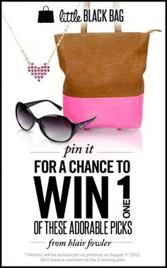 Pin for a chance to win a Little Black Bag giveaway!