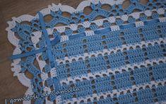 Copertine a uncinetto con schemi e spiegazioni | I gomitoli di Camilla Manta Crochet, Tunisian Crochet, Crochet Poncho, Filet Crochet, Crochet Blanket Patterns, Baby Blanket Crochet, Crochet Stitches, Crochet Baby, Beret Rouge