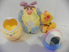 Vintage Fisher Price 1987 Smooshees  , Itty Bitty Kitty and Easter Dazzle Duck , Collectible  Cuddler Soft Toys by ShersBears on Etsy