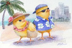 Ferdinand+and+Nina+in+Hawaii by+Zehland