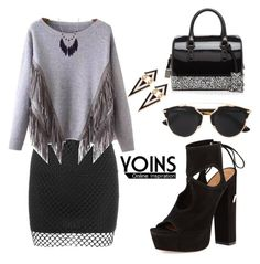 """""""YOINS Sweater"""" by tania-alves ❤ liked on Polyvore featuring Christian Dior, Aquazzura, Furla and yoins"""