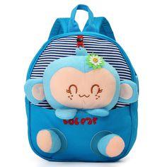 e37034808a46 Cute Mini Kindergarten Kids Baby Children Cartoon Canvas Backpack Shoulder  Animal Outdoor Schoolbags is cheap