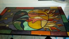stained glass dining unicornspit, dining room ideas, go green, home decor, painted furniture, woodworking projects