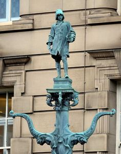 Hidden historical gems of Liverpool. Lamp Post outside World Museum Liverpool on Byrom Street Photo by Gavin Trafford.