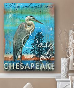 Look at this Chesapeake Bay Great Blue Heron Wall Art on #zulily today!