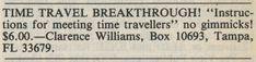 TIME TRAVEL BREAKTHROUGH! (1984)