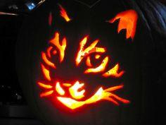 Kitty Halloween pumpkin
