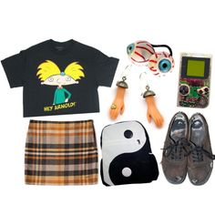 """""""90s"""" by technicolour-mermaid on Polyvore"""