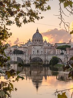 Beautiful view over Vaticano from Ponte Umberto I (Rome, Italy) Places Around The World, The Places Youll Go, Travel Around The World, Places To Visit, Rome Travel, Italy Travel, City Break Holidays, Italy Holidays, Visit Rome