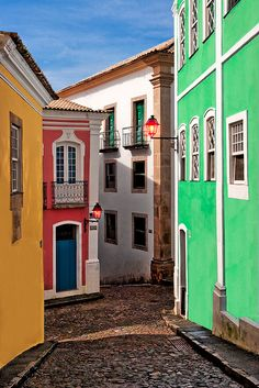 Old City Salvador de Bahia, Brasil (Spring dai Places Around The World, Oh The Places You'll Go, Travel Around The World, Places To Travel, Places To Visit, Around The Worlds, Wonderful Places, Beautiful Places, Brazil Travel