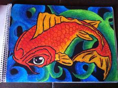 Koi in oil pastels. This is my version.