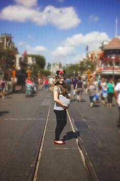 Disneyland maternity photo