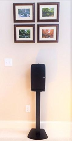 Beautiful Wood Speaker Stand Handcrafted for SONOS PLAY 5 2nd Generation Made in USA Single Stand Black -- Click image for more details. (Amazon affiliate link)
