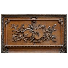Louis XVI Style Carved Oak Wood Door Pediment, 19th Century | From a unique collection of antique and modern doors and gates at https://www.1stdibs.com/furniture/building-garden/doors-gates/