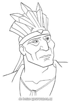 23 Best coloring pages 12 (Pocahontas) images in 2015