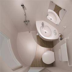 Glass Bathroom, Glass Shower, Bathroom Ideas, Tiny House Living, Cozy House, Living Room, Shower Cabin, Shower Units, Shower Panels
