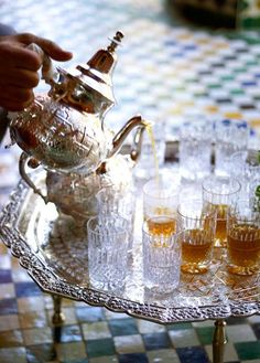 Morocco Travel Inspiration - I LOVE Mint Tea from Morocco, especially if served at La Mamounia