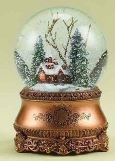 Large christmas musical light up spinning snow globe, santa is ...
