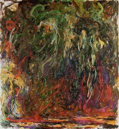 Claude Monet, Saule Pleureur, Giverny, huile sur toile, 1920-1922, Coll. privée