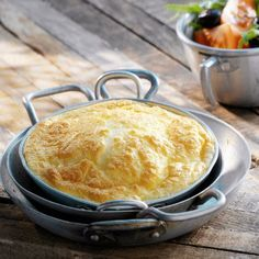 Omelette au four - allsaus. Egg Recipes, Light Recipes, Crockpot Recipes, Dessert Recipes, Omelettes, Quiches, Cherry Desserts, Tortilla, Easy Cooking