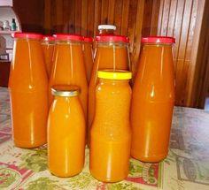 Sárgabarackos ivólé Peach Juice, Hot Sauce Bottles, About Me Blog, Cooking, Tableware, Food, Pallets, Canning, Kitchen