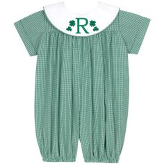 Our Rags Land Kelly Classic Checks Boys Short Bubble! Shop NOW at www.ragsland.com & follow Ragsland on Instagram!