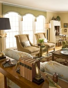 Traditional Home living room curtains Design Ideas, Pictures, Remodel and Decor