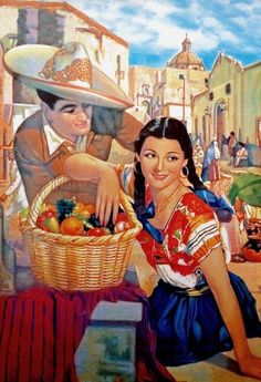 These wonderful greeting cards feature beautiful classic Mexican artwork that jumps out from the paper. With a blank inside, you can send them to friends, family and lovers alike. Just make sure your poetic writing matches the beauty of the card itself! Mexican Artwork, Mexican Paintings, Mexican Folk Art, Jesus Helguera, Mayan Symbols, Viking Symbols, Egyptian Symbols, Viking Runes, Ancient Symbols