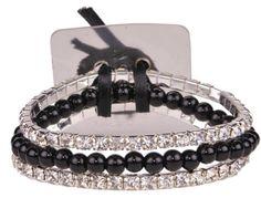 Sarina Flower Bracelet-Midnight | SA1210
