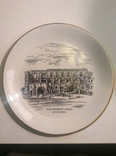 Malmesbury Abbey plate by MerryLegsandTiptoes on Etsy