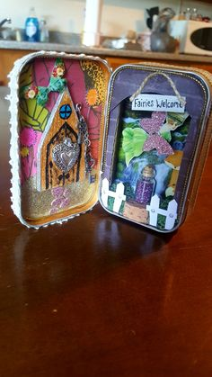Doorway to Fairyland! By Kae. Cork Art, Artist Trading Cards, Fairy Land, Tim Burton, Doorway, Tins, Minions, Miniatures, Entrance