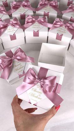Elegant Wedding Favors, Wedding Favor Boxes, Wedding Gifts, Gold Wedding, Party Gifts, Party Favors, Diy Gift Box, Gift Wrap Box, Custom Tags