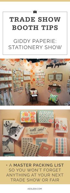 Are you headed to NYNOW this summer, or any other trade show, market, or craft fair? We're going to be sharing tips from creative stationery and gift businesses as you prep. Craft Fair Displays, Display Ideas, Market Displays, Booth Displays, Booth Ideas, Craft Business, Business Tips, Creative Business, Online Business