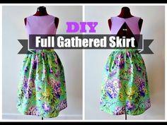 DIY Full Gathered Skirt (NO PATTERN NEEDED) Definitely sewing this weekend!!