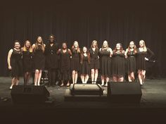 This is a picture of the SAU all girls singing group I was in called Bella Voce! This was new to SAU just this last semester and I would definitely recommend returning students and new students to try out! We sing everything from pop pieces to Broadway musical pieces and it's just all around an amazing time!