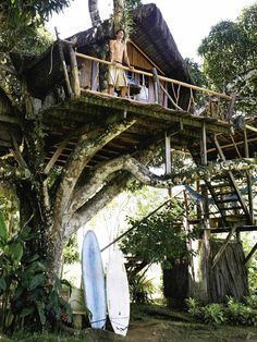 cool This Art-jungle Eco-lodge in Brasil Is Close to Paradise #Travel #Tree #Treehouse To live amongst a preserved environment in harmony with nature, inspired forms of expression and wild animals is the ultimate holistic l...