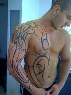 Tribal shoulder and chest