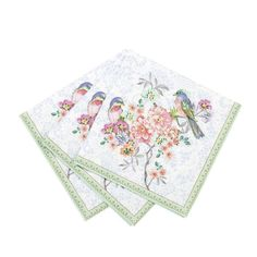 Love Bird Party Napkins Floral Bridal Tea Wedding Shower