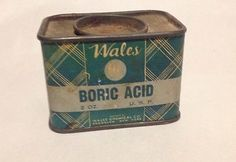 Vintage-Wales-Crystal-Boric-Acid-Pharmaceutical-Tin-Drug-Store-Advertising-BKLYN