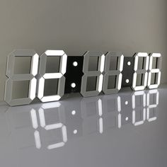 Remote Oversize Led Wall Clock 3D Big Screen Digital Timer 6 Digit Stopwatch New | Home & Garden, Home Décor, Clocks | eBay!