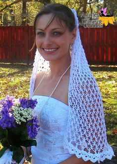 Ravelry: Love is in the Air Wedding Veil pattern by Articles of a Domestic Goddess