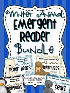 Are you looking for simple emergent readers for your kinders to go with a unit on polar bears, penguins, walruses or seals? These emergent reader texts include easy to read sight words and a repetitive pattern for your emerging readers. All pages, images and text are black and white to save on ink.