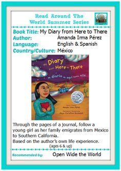 My Diary from Here to There/Mi diario de aquí hasta allá, by Amanda Irma Pérez.